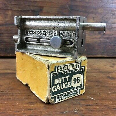 BOXED VINTAGE c.1911 STANLEY SWEETHEART No.95 BUTT GAUGE USA OLD TOOLS