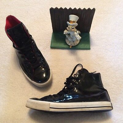 b51c65065381 Converse Chuck Taylor Black Patent Leather High-Top Shoes Mens Size 8  Womens 10