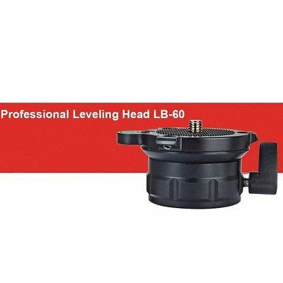 """Camera Monopod Tripod Leveling Head Base UNC3/8"""" 1/4"""" Thread From -15° to +15°"""