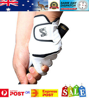 Full Cabretta Leather Quality Double S Golf Glove - Men & Woman - Aussie Stock