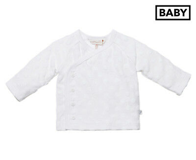 Fox & Finch Baby Circles 4-Button Matinee Jacket - White