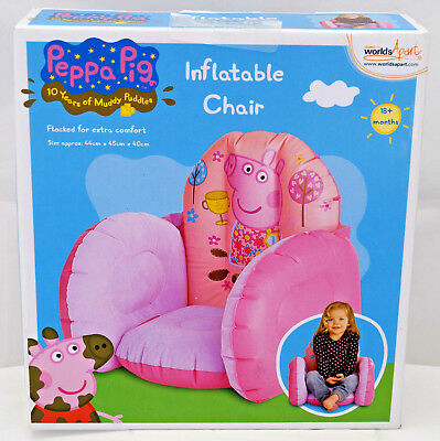 Peppa Pig Inflatable Chair 18+ months  10 Years of Muddy Puddles