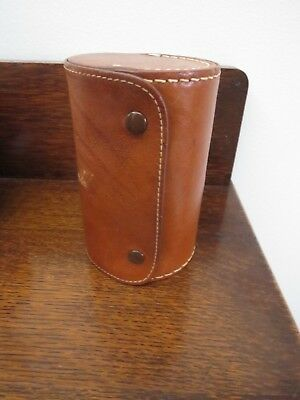 Vintage Kangaroo Leather Shoe Polishing Case & Brush Australian Retro Hickok
