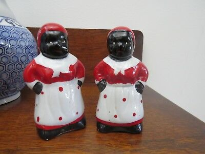 Vintage Retro Mammy Salt & Pepper Shakers Hands on Hips Attitude