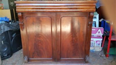 A lovely Old Antique Mahogany cabinet for restoration. P/U 3139