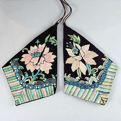 Two (2) Antique Chinese Embroidered Silks Textiles