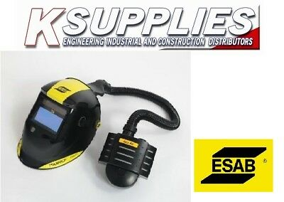 ESAB WARRIOR  WELDING HELMET MASK 9-13 AIR FED WITH ECO AIR *Free Next Day*