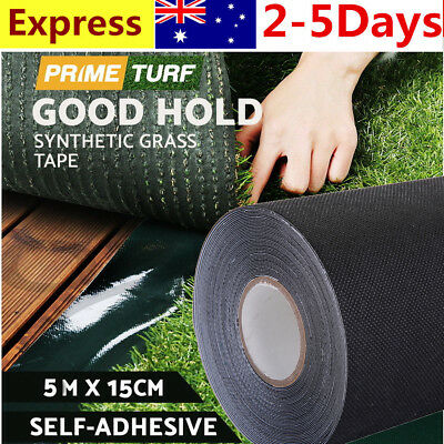5m x 15cm Artificial Synthetic Grass Turf Tape Self Adhesive Tape Lawn Carpet