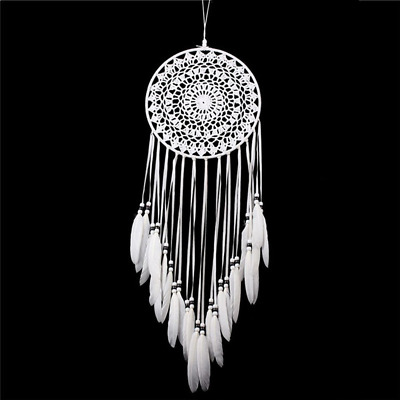 Dream catcher Handmade Traditional White Feather Wall Hanging Car Hanging Home D