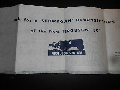 Vintage Massey Ferguson 30 UTILITY CLOTH~Compliments of Your Ferguson Dealer!