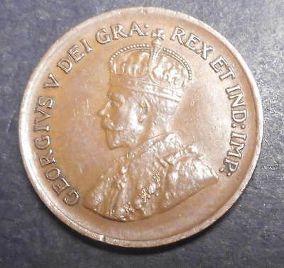 Canada 1936 KGV One  Cent  Coin  Nice  XF+/