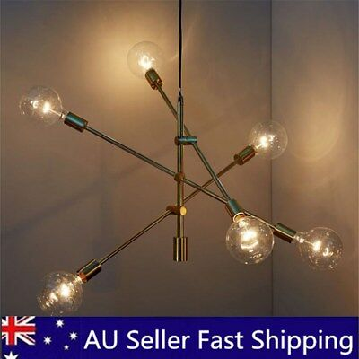 6 Heads Industrial Chandelier Light Pendant Lighting Modern Home Ceiling Fixture