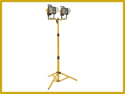 Halogen Bulb Work Light 1000 Watt with Yellow Tripod Stand Cordless Rechargeable