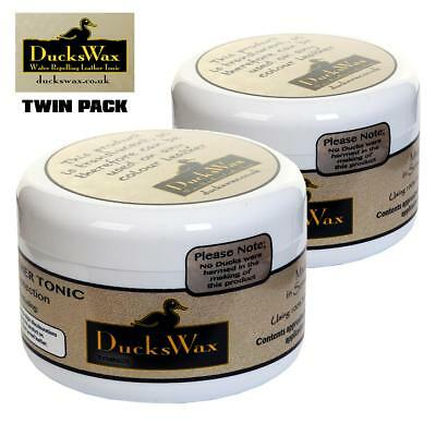 TwinPack DucksWax Waterproof Cream for Leather Boots/Shoes/Saddles+Outdoor-200ml
