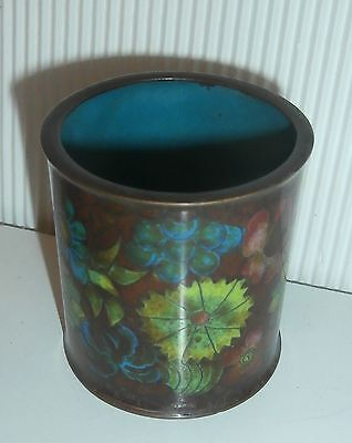 lovely  antique  cloisonee  enameled  china  antique  small pot