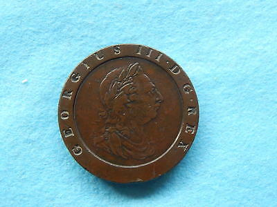 Rare   1797   Two Penny  Cartwheel /  Proclamation   Coin.