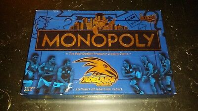 2010 MONOPOLY Official AFL Adelaide Crows 20 Years Board Game Complete