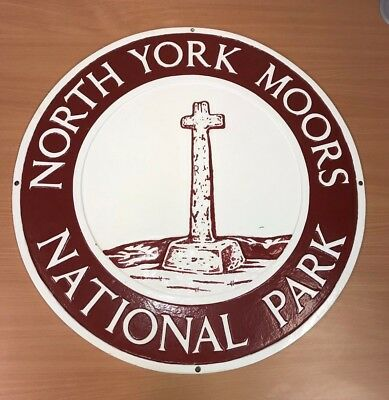 North York Moors National Park Boundary Sign (Cast Iron) 6 of 19
