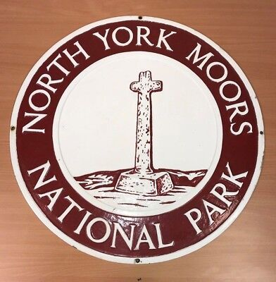 North York Moors National Park Boundary Sign (Cast Iron) 7 of 19