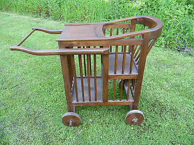 Antique, French, Pram Type. Babies High Chair. Antique High Chair. Antique Pram