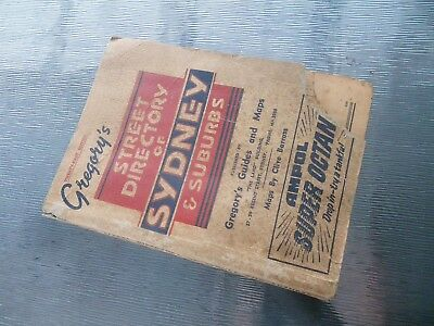 OLD VINTAGE GREGORY,S SYDNEY STREET DIRECTORY BOOK 21st Edition 1956 COMPLETE GC