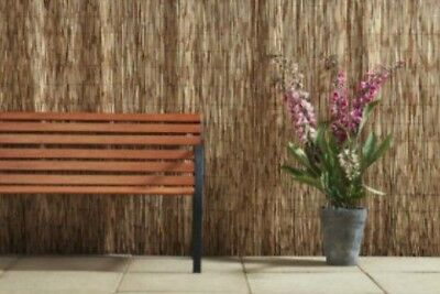 NEW Natural Willow Screening Roll Garden Screen Fence Wood Fencing Panel 1m  X 3m
