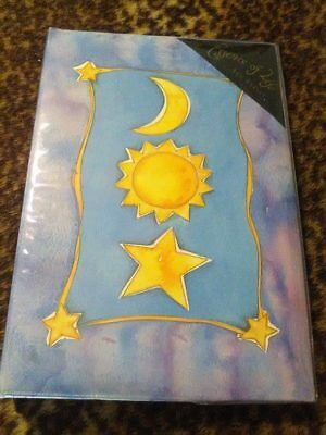 Star Sun Moon Blue Photo Album .... EXCELLENT CONDITION / LIKE NEW