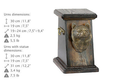 Chihuahua Longhaired, dog urn made of cold cast bronze, ArtDog, CA - kind3