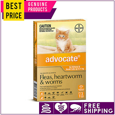 ADVOCATE for Cats 3 Doses ORANGE Pack Upto 4 Kg by Bayer