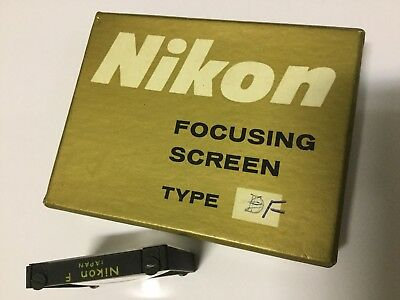 NIKON FOCUSING SCREEN Focus Type F - New Old Stock - Vintage Camera Parts