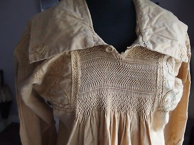 antique hand smocking embroidery artist smock Arts and Crafts Victorian 1890