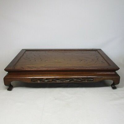 C323: Japanese wooden decorative stand of good work and taste