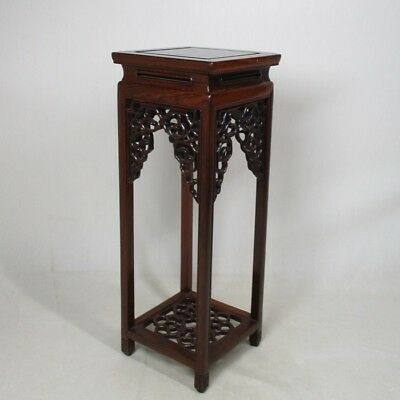 C253: Japanese quality KARAKI wooden decorative stand with good style and work