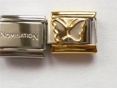 Genuine Nomination Link Classic Italian + Unbranded Butterfly Gold Charm U4 c4ef5f8cd