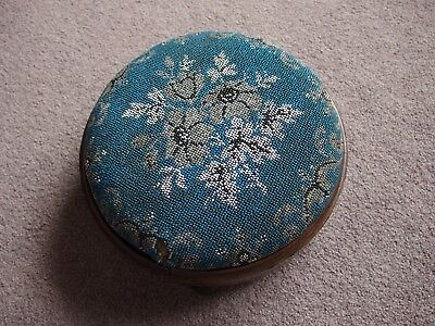 antique beadwork footstool with inlay wool