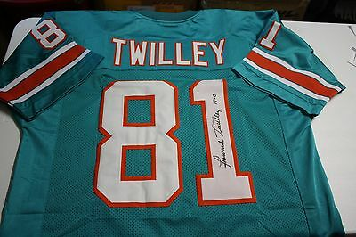 finest selection 6711f 08e17 MIAMI DOLPHINS HOWARD Twilley #81 Signed Home Jersey 1972 ...
