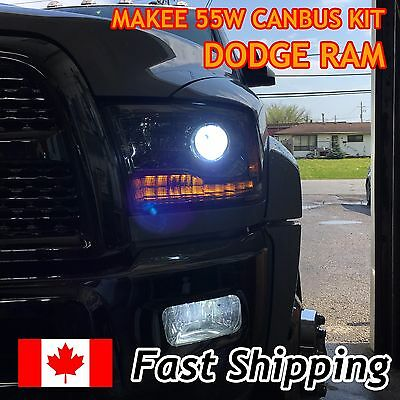2014 2015 Dodge Ram 1500 HID conversion kit 9012 HIR2 6000k (with Projector)