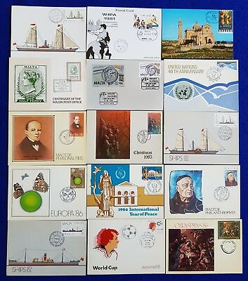 1981/91 Malta  Lot/Collection Of MaltaPost / ES Occasion Cards 15V