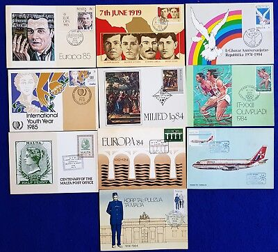 1984/85 Malta  Lot/Collection Of MaltaPost / ES Occasion Cards 10V