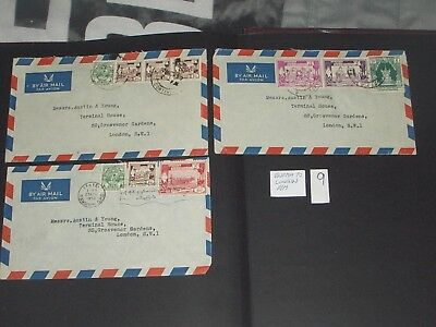 1950 Burma  airmail covers stamp  to London X 3