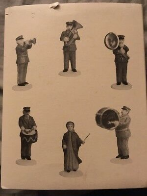 """The Heritage Village Collection """"SALVATION ARMY BAND"""" Set Of 6 In Box"""