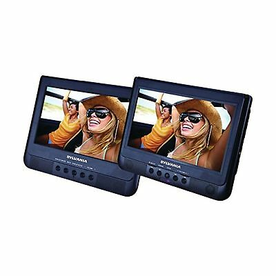 Sylvania 10.1-Inch Dual Screen Portable DVD Player with USB Card Slot to Play...