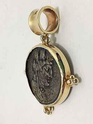 Estate Byzantine Pendant Ancient Gold and Bronze