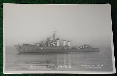 CPA vraie photo MARIUS BAR MARINE NATIONALE torpilleur TEMPETE 1926
