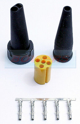 Aspock Yellow 5 Pin Rear Light Connector Plug Ifor Williams Brian James Trailers