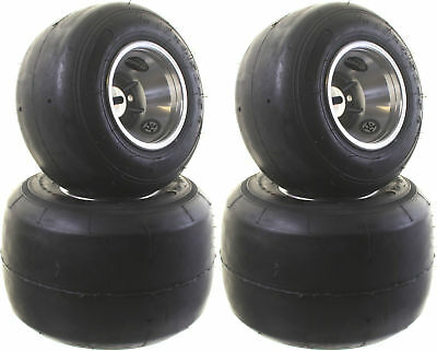 Kart Fun Tyre Set with Wheels Complete 4 Tire