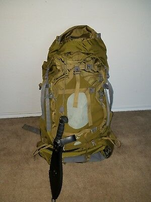 us military surplus backpack full with military items