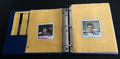 Dumb & Dumber 1994 Continuity Binder Polaroid Wardrobe Jim Carrey Movie Prop and