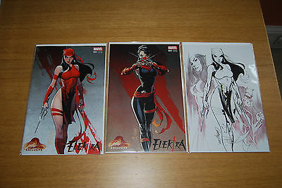 Elektra #1 J. Scott Campbell Store Exclusive 3 Variant Set - In stock