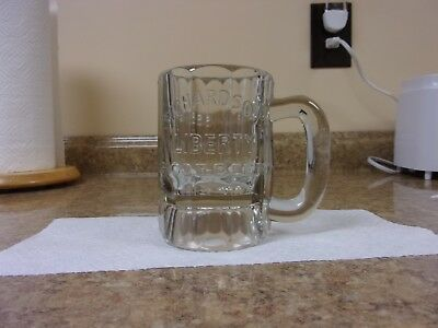 Vtg Richardson's Liberty Root Beer Mug, Thick, Heavy Clear Glass